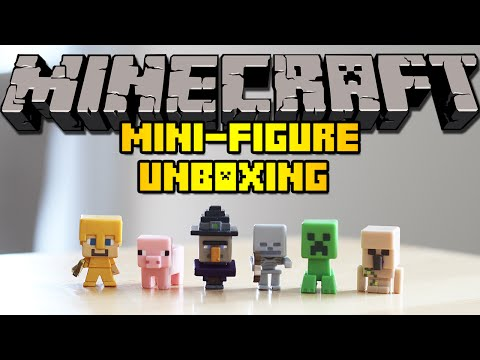 Mattel Minecraft Mini-Figures Unboxing w/ 2 Blind Boxes!