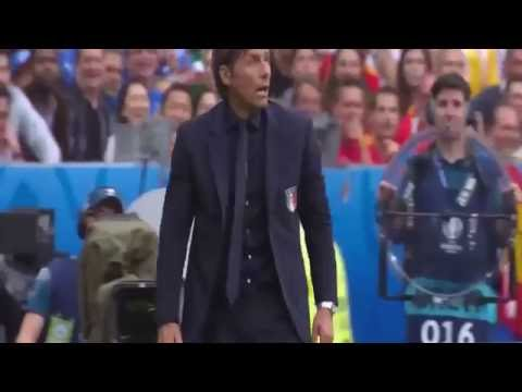 angry Antonio Conte reaction Spain vs Italy 2 0 Euro2016 유로 2016 빡친 콩테