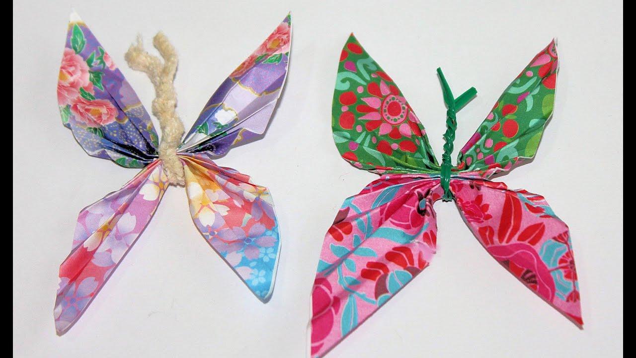 C mo hacer mariposas de papel youtube - Como hacer mariposas de papel ...