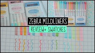 Zebra Mildliners review and swatches (Reviews by Tan #3)