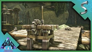 JOURNEY TO THE NEW BASE LOCATION! CLIFF PLATFORMS & WOODEN ELEVATOR! - Ark: Aberration [Gameplay E5]