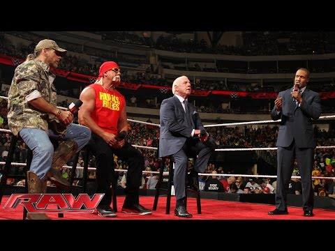Hulk Hogan, Ric Flair and Shawn Michaels participate in a Royal Rumble WWE Legends Panel: Raw, Janua