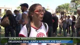 11 12 2013 Patota de SUTECBA impide el reingreso de delegados del BAP