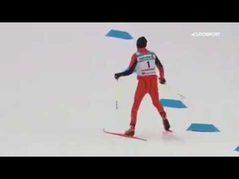 Чемпион мира по лыжным гонкам :)-парень из жаркой Венессуэлы !!