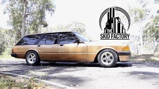 THE SKID FACTORY - TURBO V8 1984 XE FALCON WAGON [Build Review]