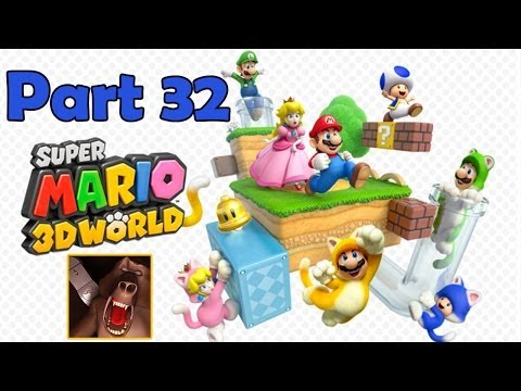 Super Mario 3D World Let's Play Part 32: Mushroom World P2 Gameplay Walkthrough (Wii U)
