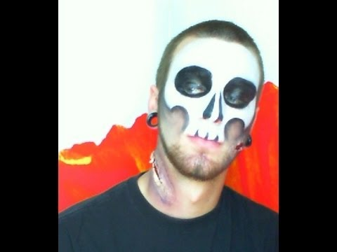 witch doctor skull mask halloween makeup youtube