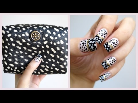 Tory Burch Dotted Pony Nail Art! | MissJenFABULOUS