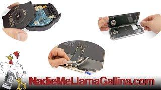 Guía de HTC One (M8): Cambiar lector de tarjetas SIM, sensor de luz, flash y botones de volumen.