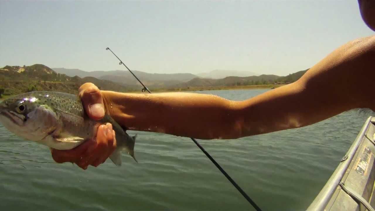 Irvine lake trout fishing youtube for Irvine lake fishing