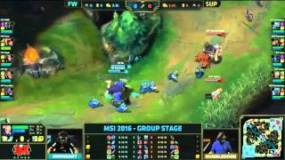 Flash Wolves vs Supermassive l 2016 MSI Grup Aşaması 2.Gün l FW vs SUP