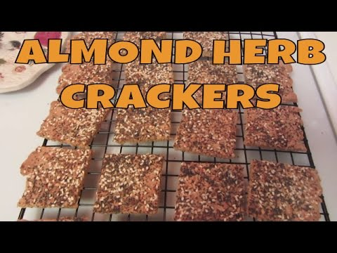 Gluten Free Almond Herbed Seed Crackers