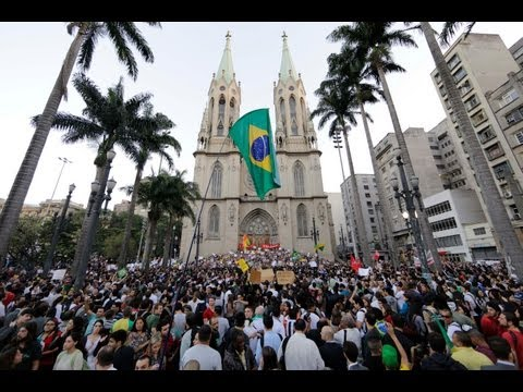 Huge Protests Continue in Brazil