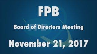 FPB Board of Directors Meeting November 2017