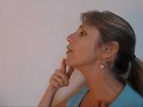 Facial Exercises For Neck And Chin - A Tight Neck And Toned Chin! video