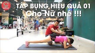 Hot Girl Tập GYM - Cách Tập Bụng Hiệu Quả 01 | Đơn Giản Tại Nhà | HLV Ryan Long Fitness