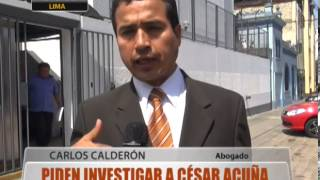 Piden Investigar A Csar Acua