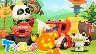 Super Panda Rescue Team | Cooking Pretend Play | Play Doh for Kids | Kids Toy | Kids Cartoon| ToyBus