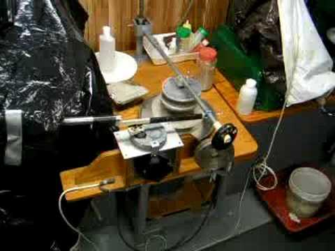 Telescope Mirror Grinding Demonstration