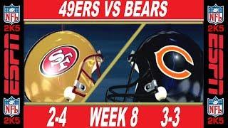 49ers vs Bears Week 8 ESPN NFL 2K5