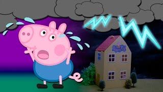 Peppa Pig Juguetes Animados - La Tormenta y Los Charcos de Barro