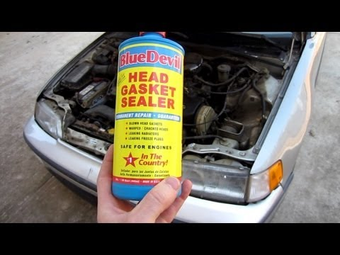 Testing Blue Devil Head Gasket Sealer on a 300.000 mile 1989 CRX and 2 week update