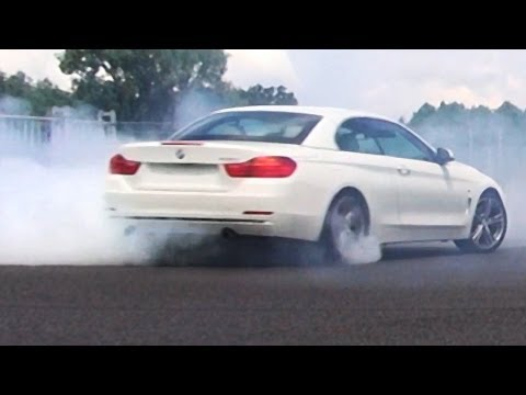 BMW 435i in Action - Review - Acceleration Onboard Autobahn Sound F33 Cabrio Donuts Burnout
