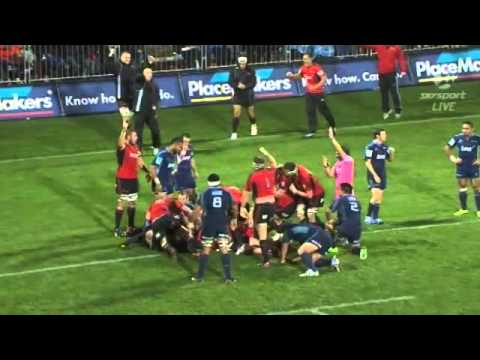 Super Rugby 2013- Rd 14 - Crusaders vs Blues Highlights.