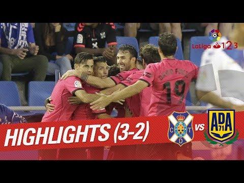 Resumen de CD Tenerife vs AD Alcorcón (3-2)