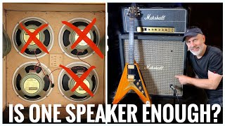 Does a 4x12 with ONLY ONE Speaker STILL sound like a 4x12?