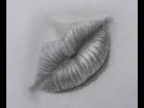 Cómo dibujar una boca - Cómo dibujar labios