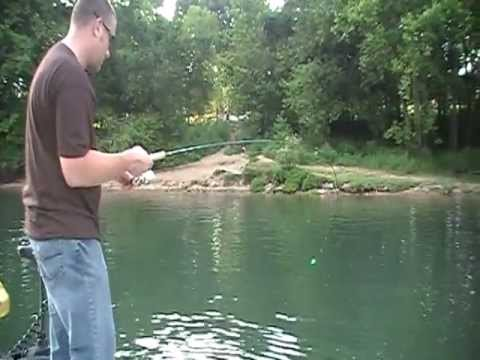 Trout fishing on Lake taneycomo with John Sappington and Fishing Guide Branson