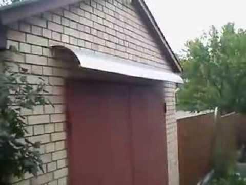 Как сделать козырек своими руками над гаражной дверью на даче