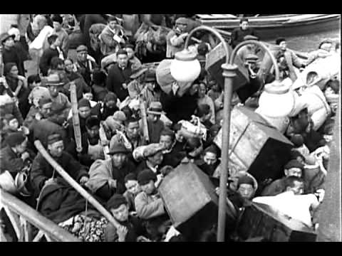 THE BATTLE OF CHINA - 1944 - This motion picture film explores Japanese aggression. In Reel 1, Japanese planes bomb Shanghai; citizens flee. Describes Chines...