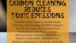 Routine Engine Carbon Cleaning reduces toxic emissions