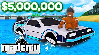 Buying the most EXPENSIVE CAR in ROBLOX MAD CITY!!