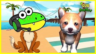 Let's Play Dog Simulator A Day as A Dog with Gus the Gummy Gator
