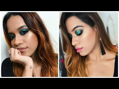 Emerald Green Smokey Eye Makeup Tutorial | Debasree Banerjee