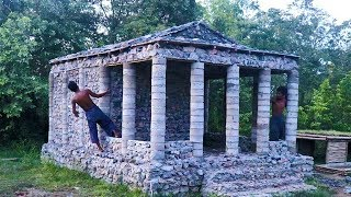 Build Stone Roman Temple By Ancient Skills