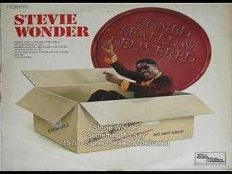 Stevie Wonder - Something To Say