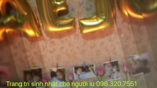 Cách trang trí sinh nhật cho người yêu đơn giản | Vela Party | 096.320.7551