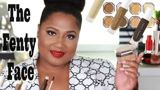 FENTY BEAUTY   Concealer and Setting Powder First Impression  ~ Testing New Foundation Shade 385!!!