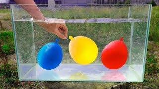 Experiment: Balloons Under Water