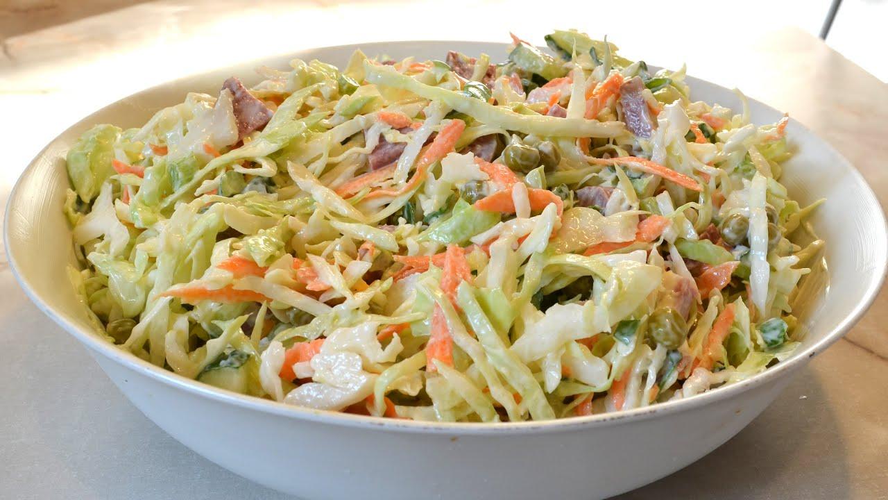 Самый простой салат из свежей капусты рецепт очень вкусный