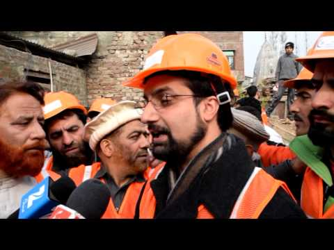 Mirwaiz inaugurating AKH AKIS INITIATIVE