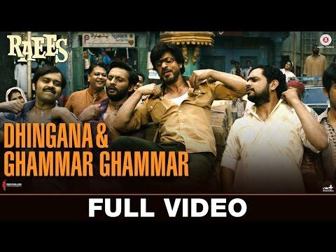 Dhingana & Ghammar Ghammar - Full Video   Raees   Shah Rukh Khan   JAM8   Mika Singh thumbnail