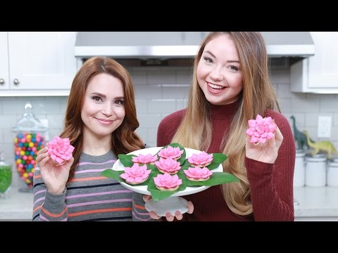 PERCY JACKSON LOTUS FLOWER COOKIES ft Meredith Foster! - NERDY NUMMIES