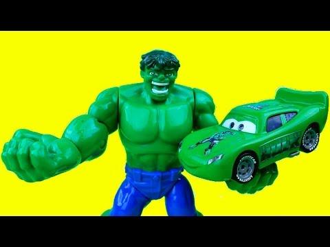 The Hulk & The Hulk Car Mcqueen Save C-3po From Mr. Freeze Lightning Mcqueen Cars Just4fun290 video