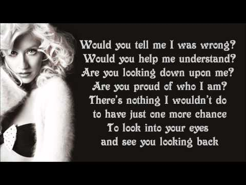Christina Aguilera - Hurt Lyrics Video