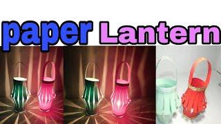 Diy..!!How to make Chinese paper lantern/lamp..!!Easy to make lantern/lamp..!!